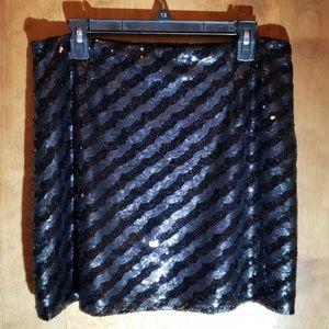 Allen B. Black Sequined Skirt
